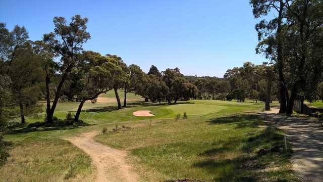 View of a green at Buninyong Golf Club