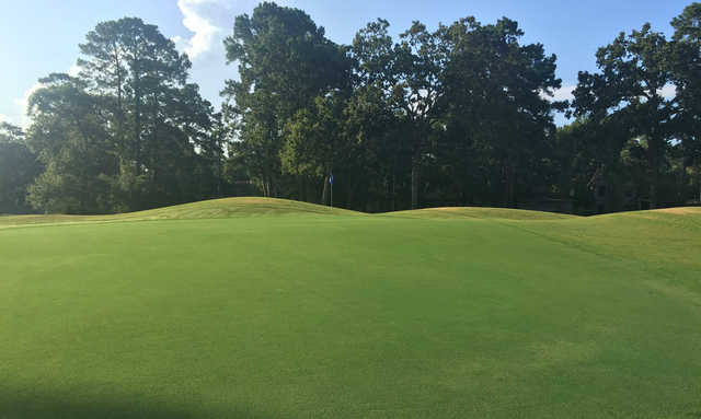 View of a green at Atascocita Golf Club