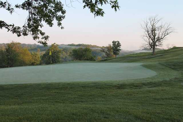 View of a green at Hickory Sticks Golf Club