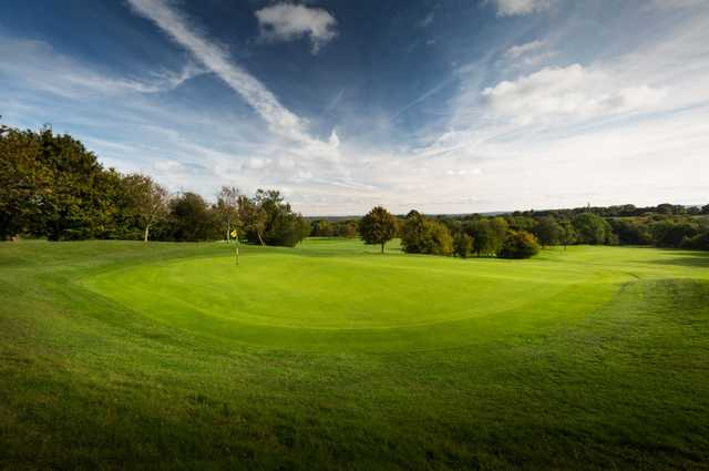 Looking back from a green at Dale Hill Hotel & Golf Club
