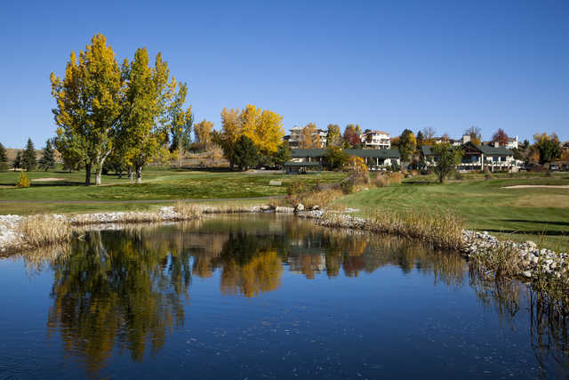 A fall day view from Lake Valley Golf Club.