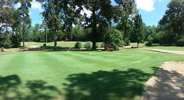 View of the puttin green at Woodhaven Golf Club.