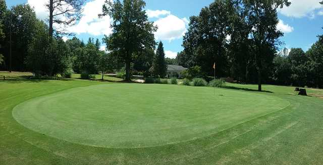 View from a green at Woodhaven Golf Club
