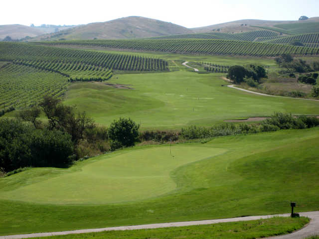 Chardonnay Golf Club is carved into the vineyards of Napa Valley.
