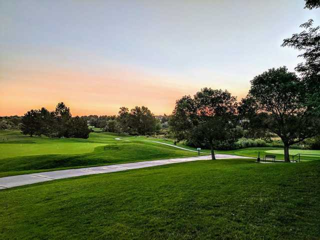 A sunset view from The Links Golf Course.