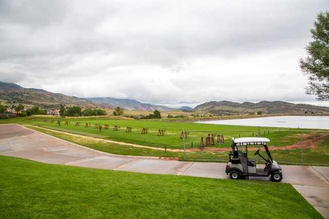 A view of the driving range at Red Rocks Country Club.