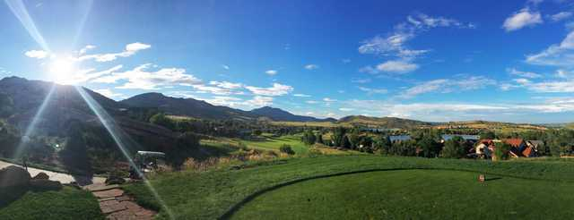 A view from a tee at Red Rocks Country Club.
