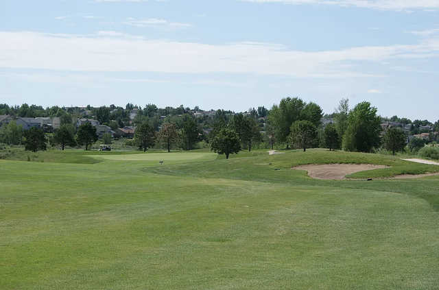 A view of green #1 at Springs Ranch Golf Club.