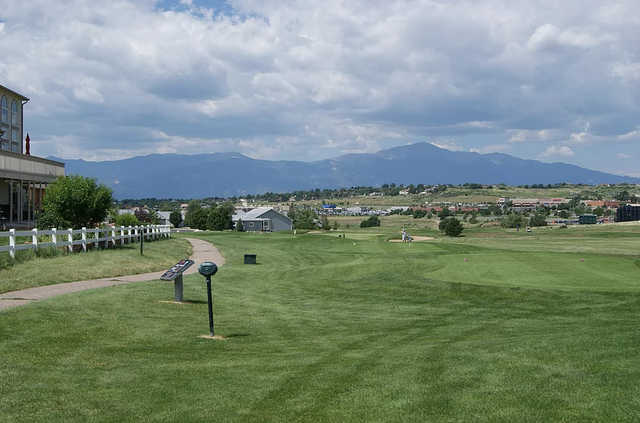 A view of tee #14 at Springs Ranch Golf Club.