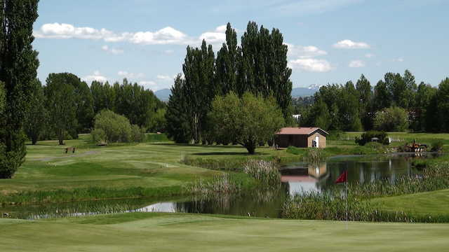 A view of a hole at Teton Lakes Golf Course.