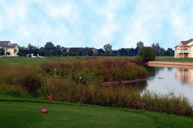 A view from a tee at Fox Run Golf Club.