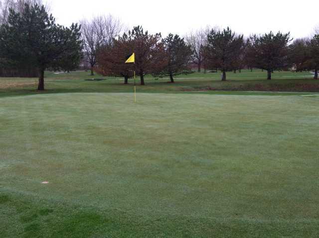 A view of the 14th hole at Fox Run Golf Club.