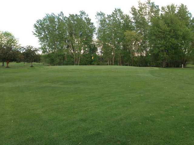 A view of the 10th green at Fox Run Golf Club.