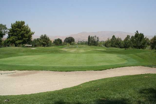 A view of the 5th green at Glen Ivy Golf Club