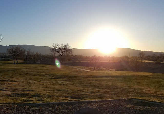 A sunrise view from Ladera Golf Course.