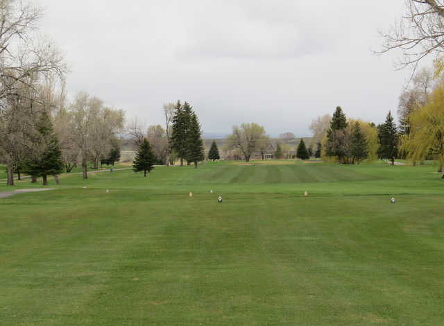 A view of a tee at Riverton Country Club.