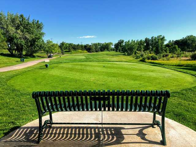 A view of tee #7 at Broken Tee Englewood Golf Course.