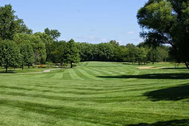 View of the 1st fairway and green at Sugar Creek Golf Course