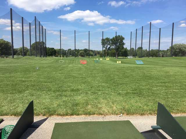 A view from the driving range at Sugar Creek Golf Course