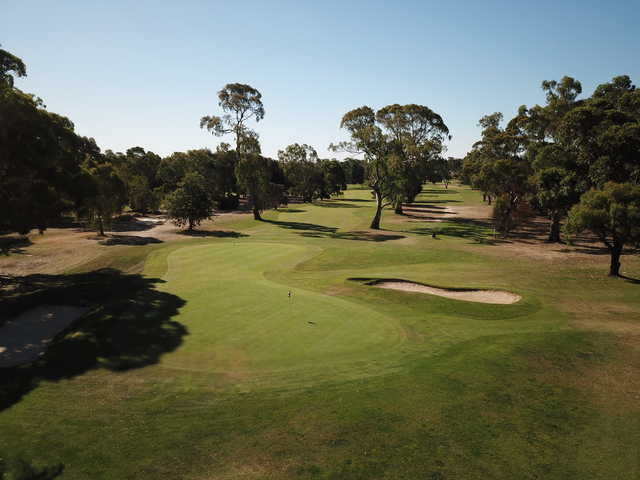 View from the 18th hole at Heathcote Golf Club