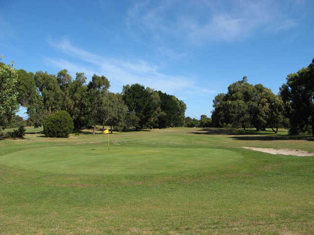 View of the 16th green at St Leonards Golf Club