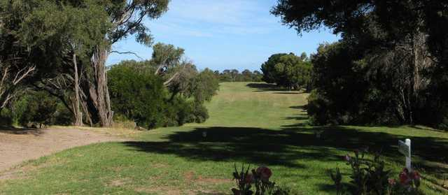 A view of tee #8 at St Leonards Golf Club.