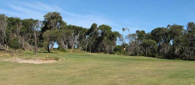A view of the 7th green at St Leonards Golf Club.