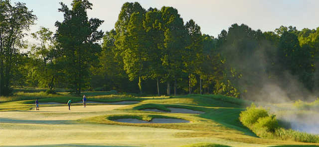 A view of a hole from Hidden Cove Golf Course at Grayson Lake State Park.