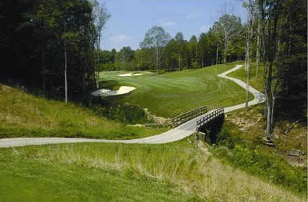 A view of fairway #12 from Hidden Cove Golf Course at Grayson Lake State Park.