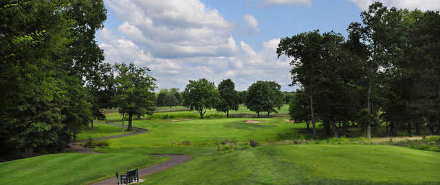 A view of tee #3 at Spooky Brook Golf Course.