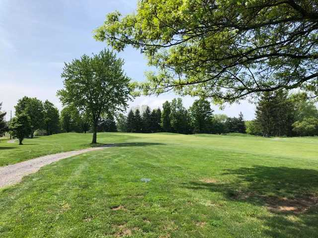 A view of a hole at Bucknell Golf Club.