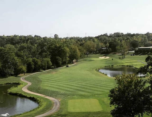 A view of a farway at Blue Ridge Shadows Golf Club.