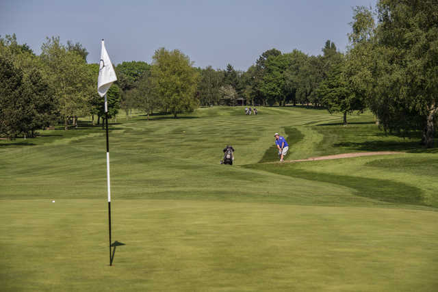 Looking back from a green at Stanton-on-the-Wolds Golf Club