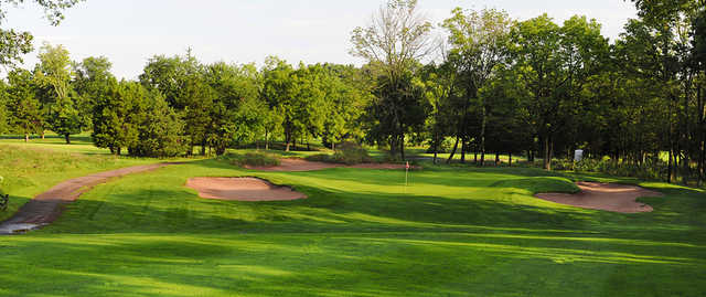 A view of green #12 at Quail Brook Golf Course.