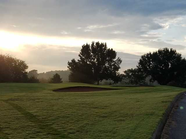 A sunset view from Three Ridges Golf Course.