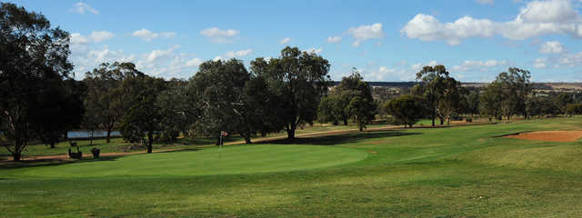 View of the 18th hole at Bacchus Marsh Golf Club