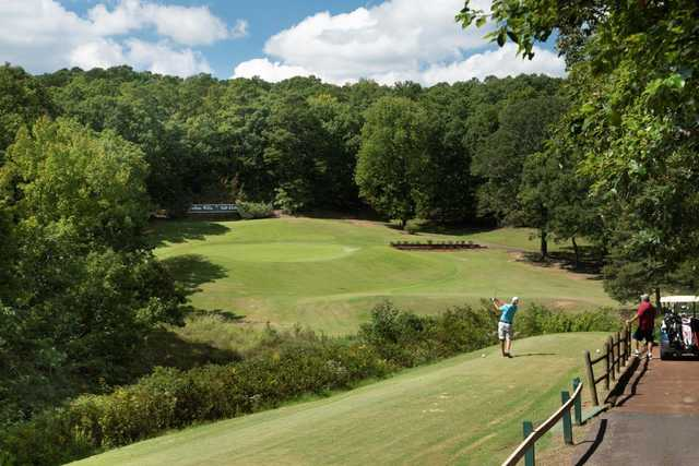 A view of a tee at Indian Hills Golf Resort.