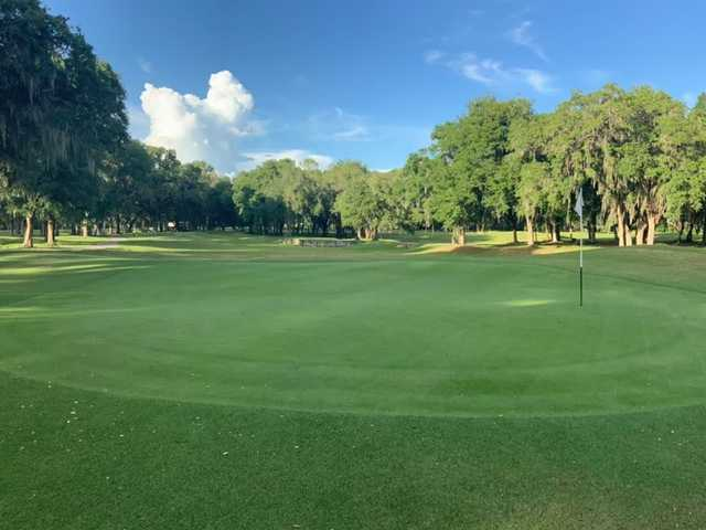 A view of a green at The Spruce Creek Preserve Golf Club.