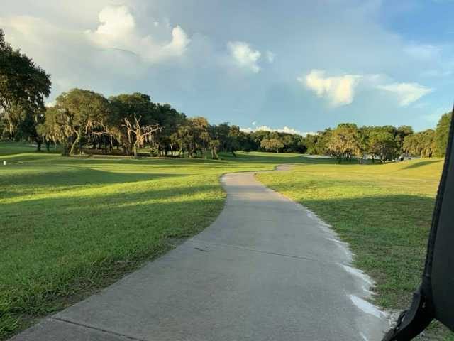 A view from a cart path at The Spruce Creek Preserve Golf Club.