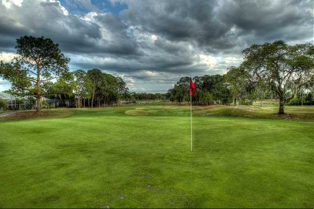 A view of the 1st hole at Timacuan Golf Club.