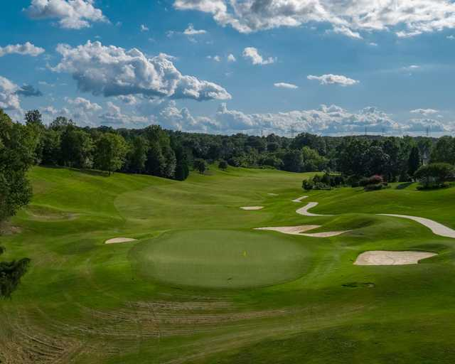 A view of green #8 at Skybrook Golf Club.