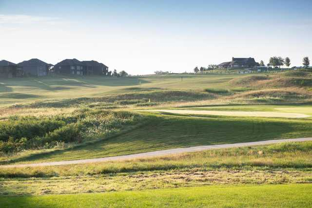 A view of two holes at Creekmoor Golf Club.