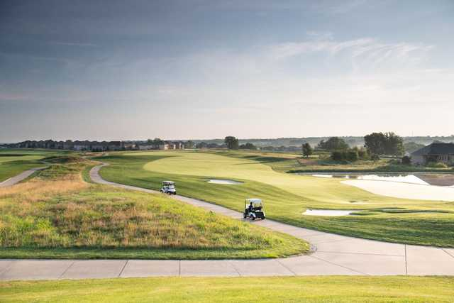 A view of a fairway at Creekmoor Golf Club.