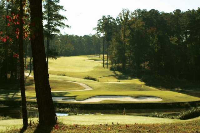 A view of tee #12 from Monticello Golf Club At Savannah Lakes.