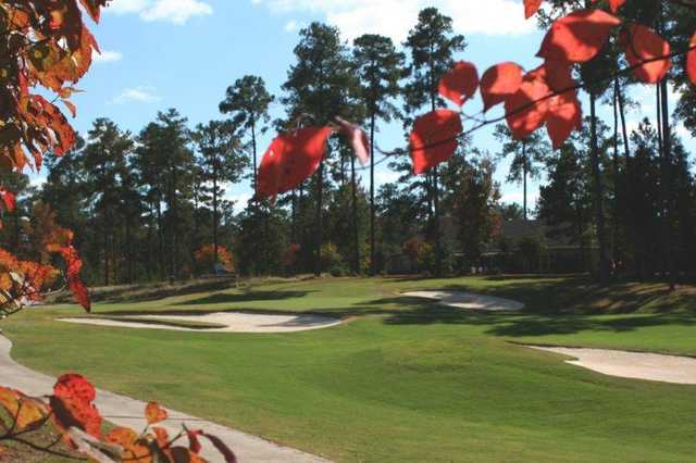 A view of green #13 from Monticello Golf Club At Savannah Lakes.