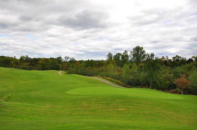 A view of a hole and a fairway from The Links At Kahite Golf Course.