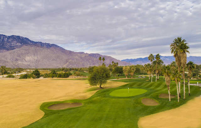 Aerial view from the Legend Course at Tahquitz Creek Golf Resort