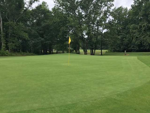 View of a green at White Plains Golf Club