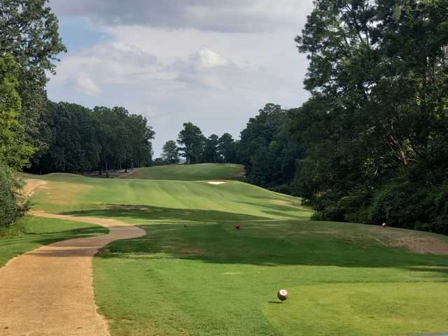 A view from a tee at Lion Hills Golf Course from East Mississippi Community College.
