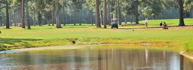 A view over a pond from The Pines at Elizabeth City